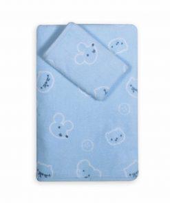 Σετ Βρεφικές (bebe) Πετσέτες (2τμχ) WONDERFUL WORLD της NEF-NEF (30x50+70x140)