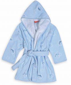 Βρεφικό (bebe) Μπουρνούζι WONDERFUL WORLD της NEF-NEF - L.BLUE - (No.04)