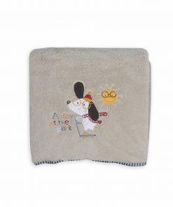 Βρεφική (bebe) Fleece Κουβέρτα Αγκαλιάς A DAY AT THE PARK της NEF-NEF (80x110)