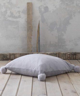 Μαξιλάρα Δαπέδου με Pom Pom AGILE της NIMA HOME (70x70) PURPLE