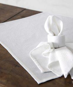 Σετ Πετσέτες Φαγητού (4 τμχ.) ALLIUM της NIMA HOME (42x42) OFF WHITE