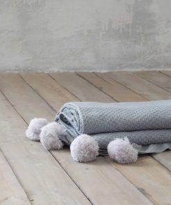 Κουβέρτα Μονή BRAID της NIMA HOME (150x220) PETROL