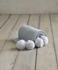 Βρεφική Κουβέρτα Κούνιας (bebe) BRAID της NIMA HOME (110x140) PETROL