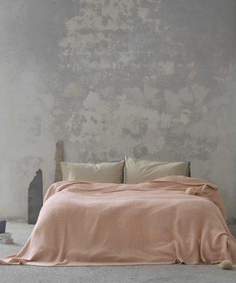 Κουβέρτα Μονή BRAID της NIMA HOME (150x220) SALMON