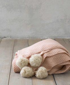 Κουβέρτα Υπέρδιπλη BRAID της NIMA HOME (220x240) SALMON