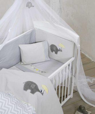 Βρεφική Κουβέρτα Κούνιας (bebe) ELEPHANTINO της NIMA HOME (110x140)