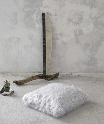 Μαξιλάρα Δαπέδου FLUFFY της NIMA HOME (70x70) GRAY