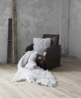 Γούνινη Κουβέρτα Καναπέ FLUFFY της NIMA HOME (130x170) GRAY
