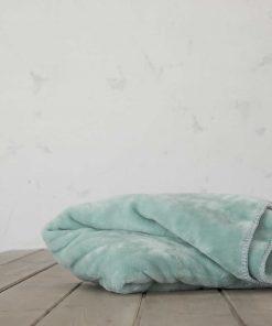 Βελουτέ Κουβέρτα Μονή KOYUN της NIMA HOME (160x220) AQUA