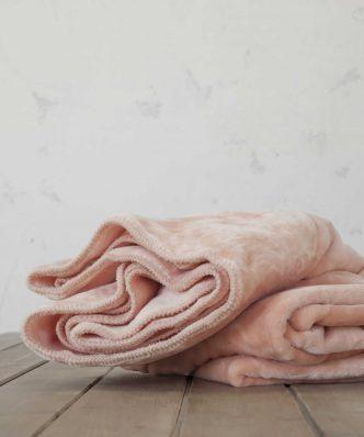 Βελουτέ Κουβέρτα Μονή KOYUN της NIMA HOME (160x220) SALMON
