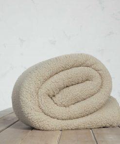 Fleece Κουβέρτα Υπέρδιπλη MANTA της NIMA HOME (220x240) BEIGE