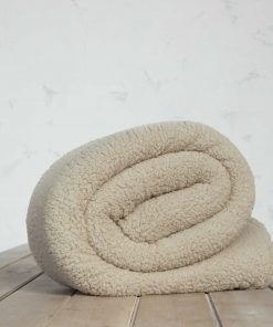 Fleece Κουβέρτα Μονή MANTA της NIMA HOME (150x220) BEIGE
