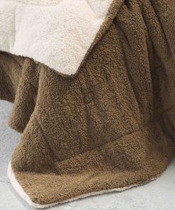 Κουβερτοπάπλωμα King Size (Γίγας) MELT της NIMA HOME (240x260) BEIGE / BROWN