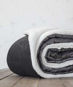 Κουβερτοπάπλωμα Μονό NUAN της NIMA HOME (150x220) DARK GRAY