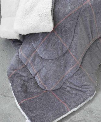 Κουβερτοπάπλωμα Υπέρδιπλο TAILOR της NIMA HOME (220x240) GRAY
