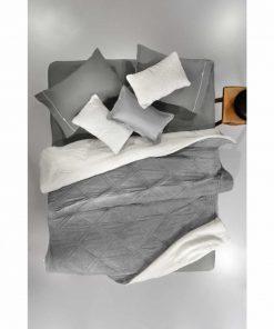 Κουβερτοπάπλωμα με γουνάκι Υπέρδιπλο BELLISIMO της Guy Laroche (220x240) CHARCOAL