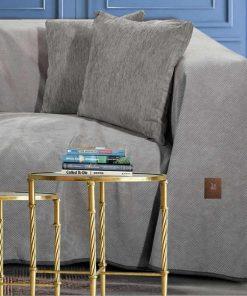 Σενίλ Ριχτάρι Διθέσιου Καναπέ Premium 2733 της POLO CLUB (180x250) ΓΚΡΙ