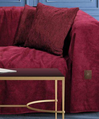 Σενίλ Ριχτάρι Διθέσιου Καναπέ Premium 2735 της POLO CLUB (180x250) ΜΠΟΡΝΤΩ