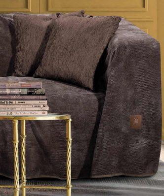 Σενίλ Ριχτάρι Διθέσιου Καναπέ Premium 2736 της POLO CLUB (180x250) ΚΑΦΕ