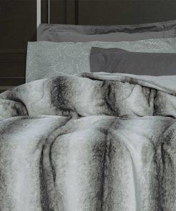 Γούνινη Κουβέρτα Υπέρδιπλη Premium 2445 της POLO CLUB (220x240) ΓΚΡΙ
