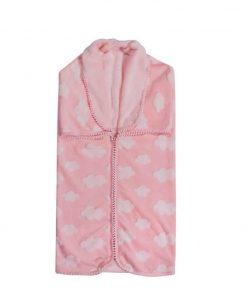 Fleece Βρεφική Κουβέρτα Αγκαλιάς - Υπνόσακος (bebe) Essential 2990 της POLO CLUB (80x90) ΡΟΖ