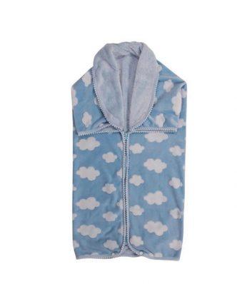 Fleece Βρεφική Κουβέρτα Αγκαλιάς - Υπνόσακος (bebe) Essential 2991 της POLO CLUB (80x90) ΣΙΕΛ