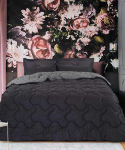 Σετ Υπέρδιπλα Σεντόνια με Πάπλωμα (5τμχ) WINTER PACK Best Collection 4690 της Das Home (220x240) ΓΚΡΙ