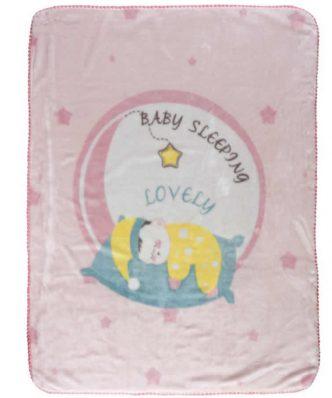 Βρεφική Βελουτέ Κουβέρτα Κούνιας (bebe) Baby Relax 6561 της Das Home (110x140) ΡΟΖ