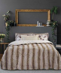 Γούνινο Κουβερτοπάπλωμα Υπέρδιπλο Blankets Line 1131 της Das Home (220x240) ΜΠΕΖ
