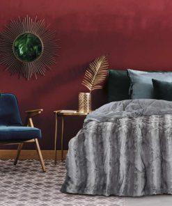 Γούνινο Κουβερτοπάπλωμα Υπέρδιπλο Blankets Line 1132 της Das Home (220x240) ΓΚΡΙ
