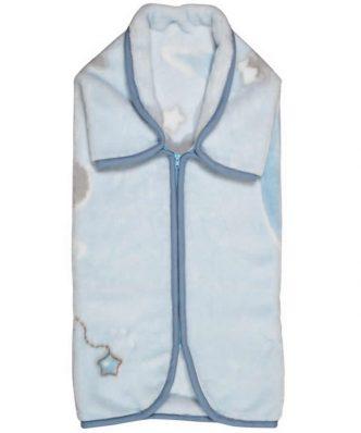 Βελουτέ Βρεφική Κουβέρτα Αγκαλιάς - Υπνόσακος (bebe) Baby Relax Line 6566 της Das Home (80x90) ΓΑΛΑΖΙΟ