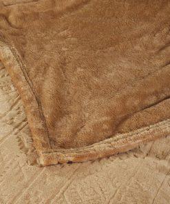 Fleece Κουβέρτα Μονή Blankets Line 427 της Das Home (160x220) BRONZE