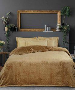 Fleece Κουβέρτα Υπέρδιπλη Blankets Line 427 της Das Home (220x240) BRONZE