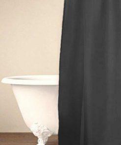 Αδιάβροχη Κουρτίνα Μπάνιου Μονόχρωμη με Κρίκους Shower Curtain SIMPLE της Palamaiki (180x200) GRAY