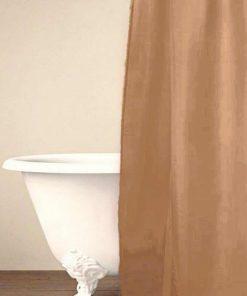 Αδιάβροχη Κουρτίνα Μπάνιου Μονόχρωμη με Κρίκους Shower Curtain SIMPLE της Palamaiki (180x200) SAND