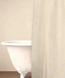 Αδιάβροχη Κουρτίνα Μπάνιου Μονόχρωμη με Κρίκους Shower Curtain SIMPLE της Palamaiki (180x180) CREAM