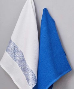 Ζευγάρι Πετσέτες Κουζίνας Kitchen Towels PETROL της Palamaiki (50x70)