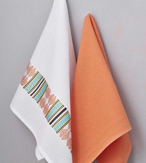 Ζευγάρι Πετσέτες Κουζίνας Kitchen Towels TERRACOTA της Palamaiki (50x70)