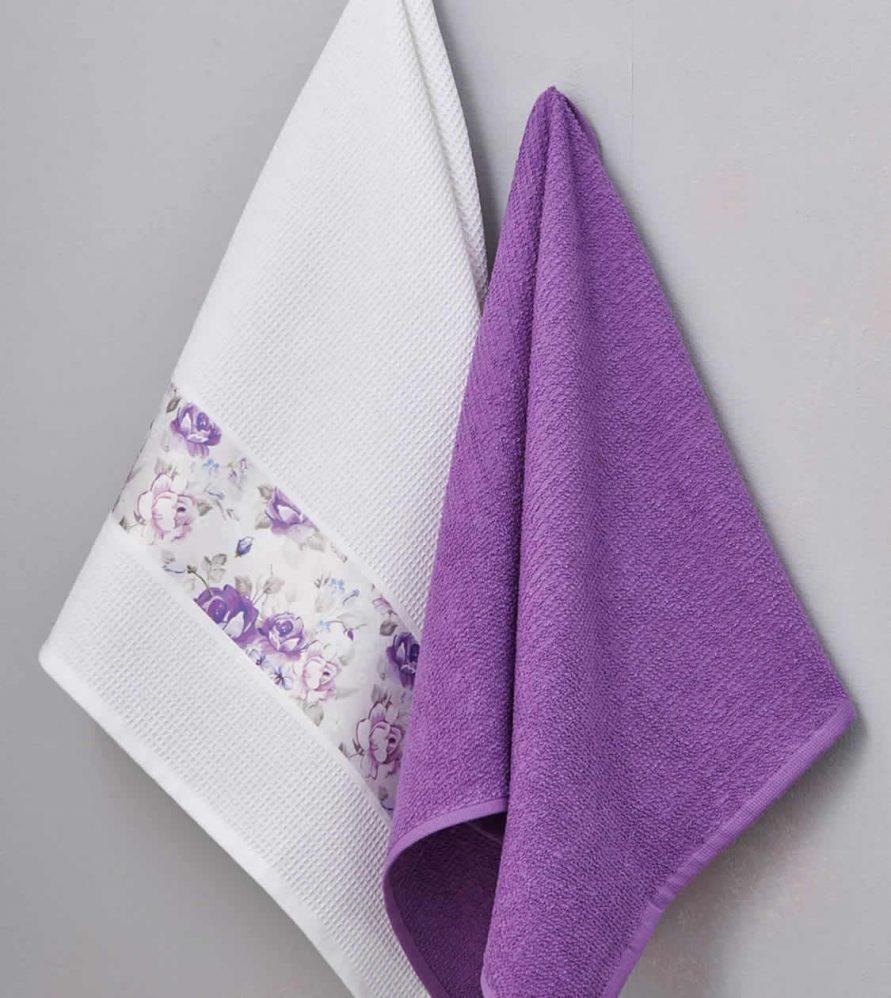 Ζευγάρι Πετσέτες Κουζίνας Kitchen Towels VIOLA της Palamaiki (50x70)
