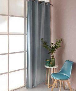 Βελουτέ Κουρτίνα με Τρούκς Curtain Collection ABBOT της Palamaiki (140x260) SILVER