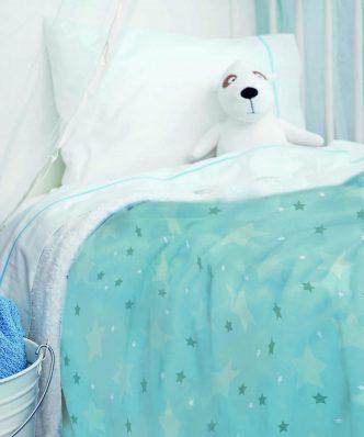 Παιδική Fleece Κουβέρτα Ημίδιπλη με Γουνάκι Bebe Blanket SKY BOY της Palamaiki (160x220)