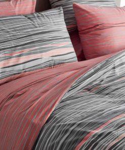 Living FENIA-2 Σετ Σεντόνια Υπέρδιπλα της Vesta Home (240x260) ΚΟΚΚΙΝΟ