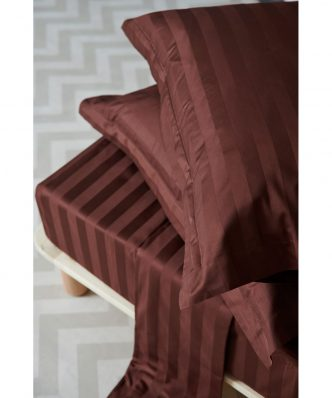 Σετ Σεντόνια Υπέρδιπλα SATIN STRIPES της Palamaiki (240x270) Brunette