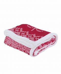 Χριστουγεννιάτικη Κουβέρτα Καναπέ GREETINGS της NEF-NEF (130x170)