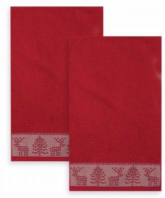 Σετ Χριστουγεννιάτικες Πετσέτες (2τμχ) GREETINGS της NEF-NEF (30x50)