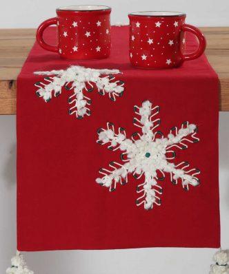 Χριστουγεννιάτικη Τραβέρσα SNOWING της NEF-NEF (33x150)
