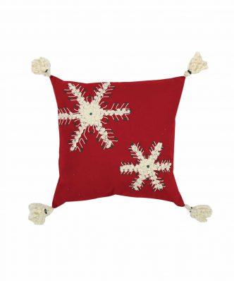 Χριστουγεννιάτικο Διακοσμητικό Μαξιλαράκι SNOWING SNOWFLAKES της NEF-NEF (45x45)