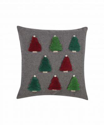 Χριστουγεννιάτικο Διακοσμητικό Μαξιλαράκι CHRISTMAS SPIRIT TREES της NEF-NEF (45x45)