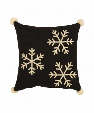 Χριστουγεννιάτικο Διακοσμητικό Μαξιλαράκι MERRY SNOWFLAKES της NEF-NEF (45x45)