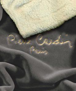 Υπέρδιπλη Κουβέρτα Fleece με γουνάκι FLANNEL 545 της PIERRE CARDIN - TAUPE